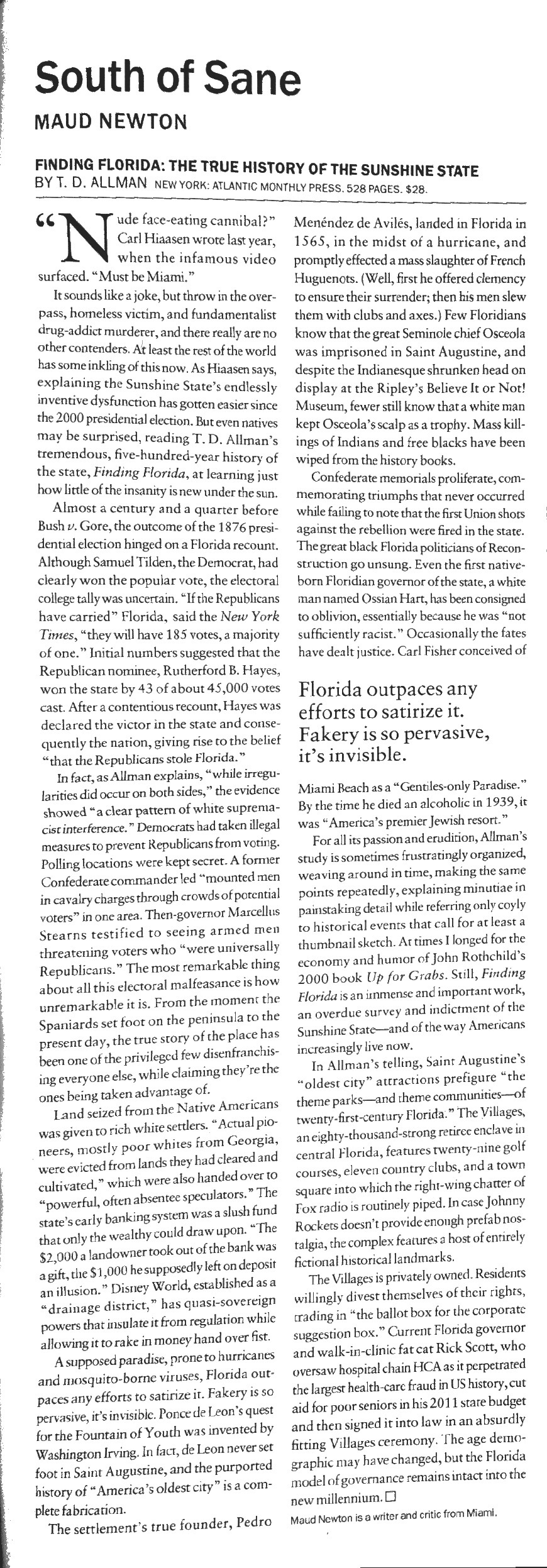 finding florida review for bookforum